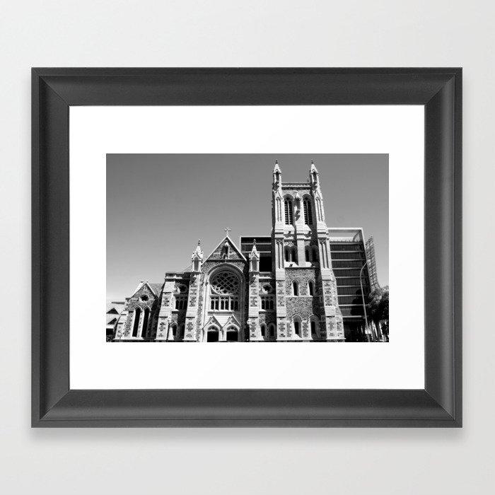 City of churches adelaide framed art print