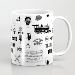 Railroad Symbols on White Coffee Mug