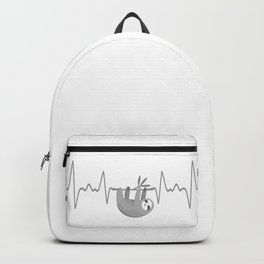 Sloth Hanging On Heartbeat Backpack