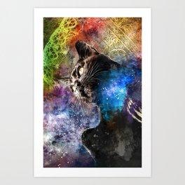 Interlacing Fabric of Light Art Print