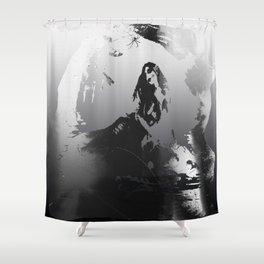 Death Siren Road Shower Curtain