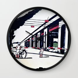 Senju, Suehiro Town - Digital Remastered Edition Wall Clock
