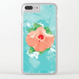 Hibiscus Bliss Clear iPhone Case