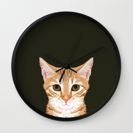 Chase - Cute Cat gifts for pet lovers cat lady gifts and perfect gifts for cat person and cute tabby Wall Clock