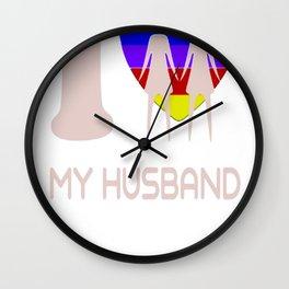 I LOVE MY HUSBAND FOR LES TSHIRTS Wall Clock