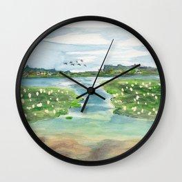 Green Lake in June Wall Clock