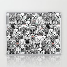 just dogs coral mint Laptop & iPad Skin