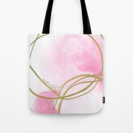 Entangled: vibrant, pink and gold abstract watercolor Tote Bag
