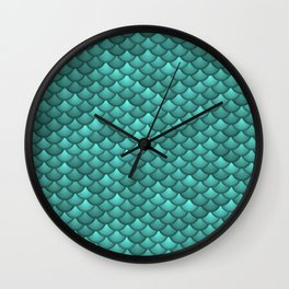 teal scales Wall Clock