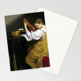 Orazio Gentileschi The Lute Player Stationery Cards