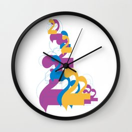 """Alap 28 """"Allap to the 28th Power"""" Wall Clock"""