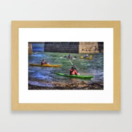 River Canoes Framed Art Print