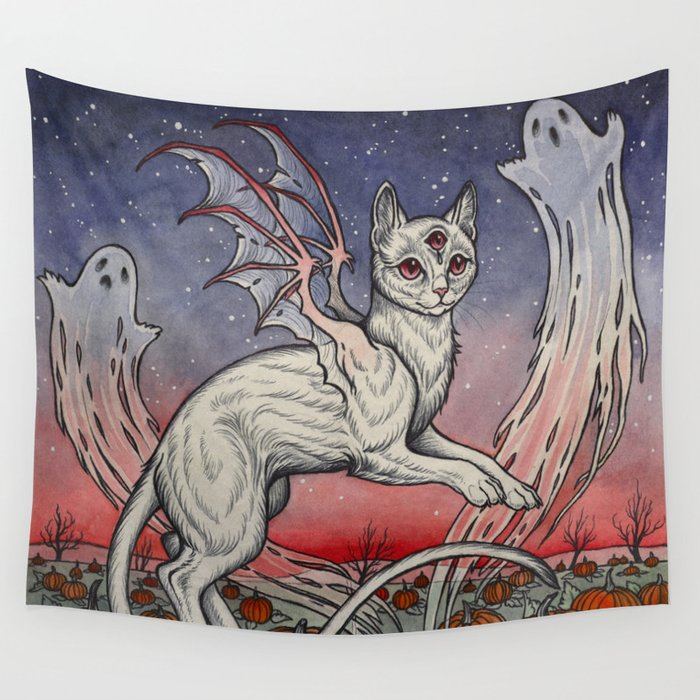 Spirits Of All Hallows Eve Wall Tapestry
