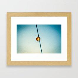 Bistro Light Framed Art Print