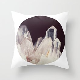 Quartz Crystal Three Throw Pillow