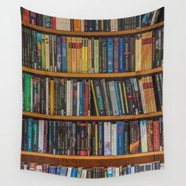 Bookshelf Books Library Bookworm Reading Pattern Wall Tapestry