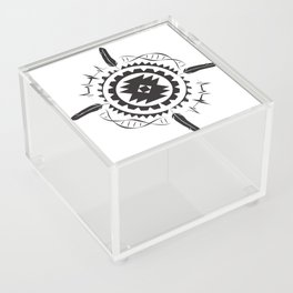 Native Amrican STEM Mandala Southwestern Acrylic Box