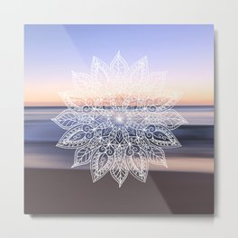 Leaf mandala - beachside Metal Print