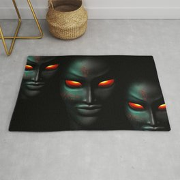 Zombie Ghost Halloween Face Rug