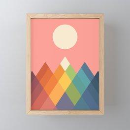 Rainbow Peak Framed Mini Art Print