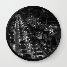 Seattle Viaduct Night Drive Wall Clock