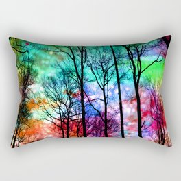 colorful abstract forest Rectangular Pillow