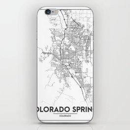 Minimal City Maps - Map Of Colorado Springs, Colorado, United States iPhone Skin