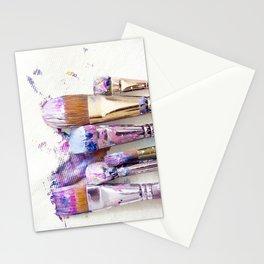 Six Dirty Paintbrushes (Photo) Stationery Cards