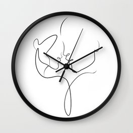 The first kiss. Wall Clock