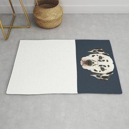 Dalmatian // Navy Rug