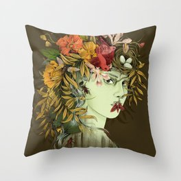 Persephone, goddess of Spring Throw Pillow