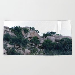enchanted rock  Beach Towel