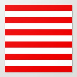 Stripe Red White Canvas Print