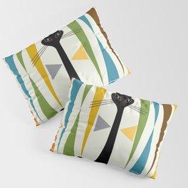 Mid-Century Modern Art Cat 2 Pillow Sham
