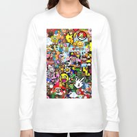 pixel art Long Sleeve T-shirts featuring Pixel art by Ilya Konyukhov