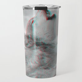 Maybe the Wolf Is In Love with the Moon v.2 (3D Effect) Travel Mug