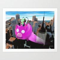 invader zim Art Prints featuring Invader Zim by inusualstuff