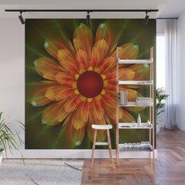 Artistic fantasy succulent flower Wall Mural