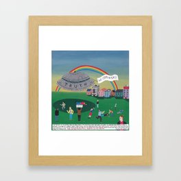 The extraterrestrial threat called Truth Framed Art Print