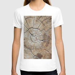Tree rings of time T-shirt