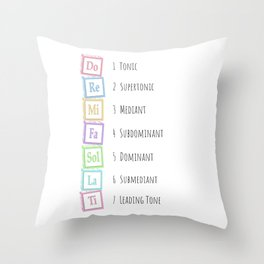 Tones of the Scale Music Theory Baby Blocks Throw Pillow