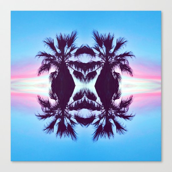 PALMADELIC BLUE Canvas Print