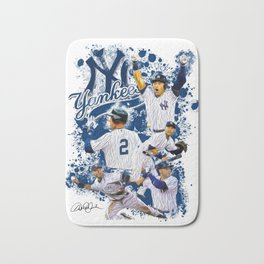Derek Jeter #2 - NY Yankees - The Captain - Unique Artwork Bath Mat