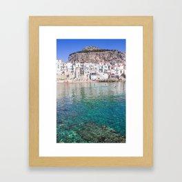 Azure water in Cefalu Framed Art Print