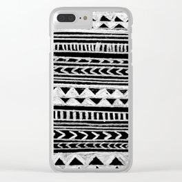 Triangle and Herring Bone Pattern Clear iPhone Case