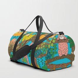 Happy Sloths Jungle Duffle Bag