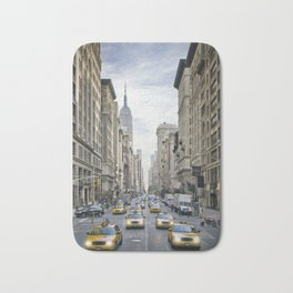 NEW YORK CITY 5th Avenue Street Scene Bath Mat