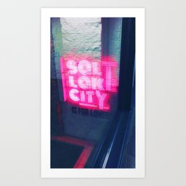 Salt Lake City is for lovers Art Print