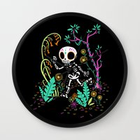 Sugar Skull Jungle Wall Clock