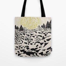 Trippy hills Tote Bag